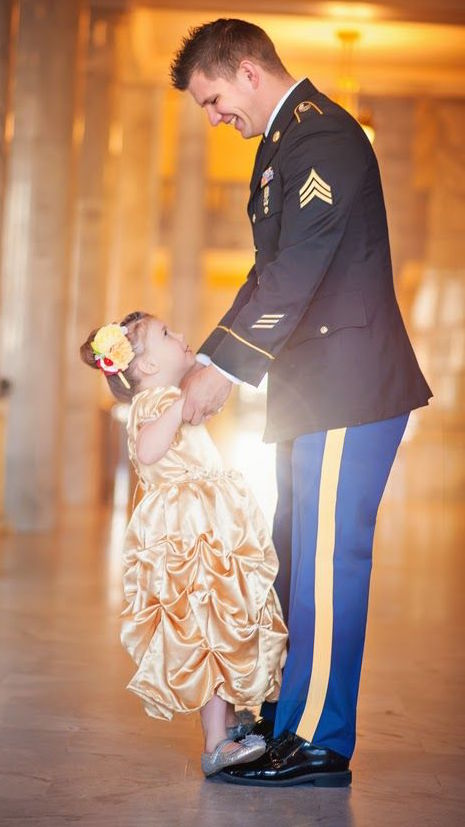 Military Dad & Daugther