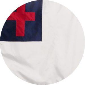 Nylon Christian Flag